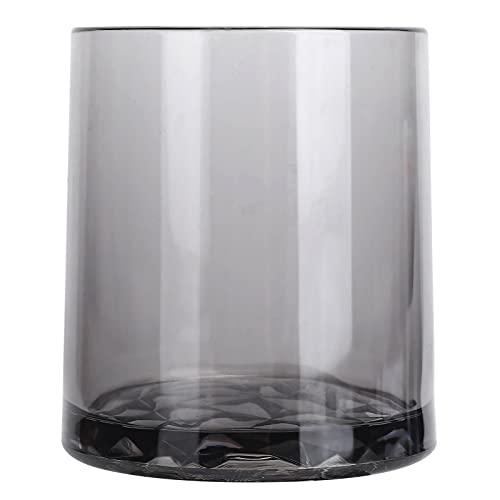 Nunafey Taza de Bebida, Taza de té, Taza de Vino Redonda, Taza de café acrílica para el hogar, para Bar, para Oficina, para Restaurante(Grey)