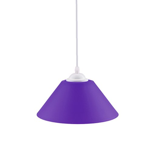 Moderner Kegel Geformter PVC Decken Hängender Heller Schatten Lampenschirm - Lila