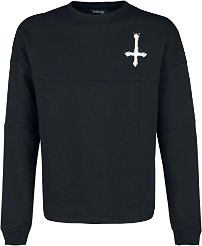 Gothicana by EMP Black Sweatshirt with Print on Chest and Back Hombre Sudadera Negro M