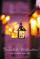 Glückwunschkarte Besinnliche Weihnachten (6 St) Leuchtende Laternen Grußkarte