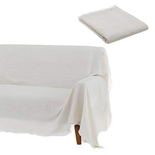 Weißer Sofabezug aus Baumwolle und Polyester d...