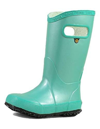 Bogs Kids Girl's Rain Boots Metallic Plush (Toddler/Little Kid/Big Kid) Turquoise 2 Little Kid M