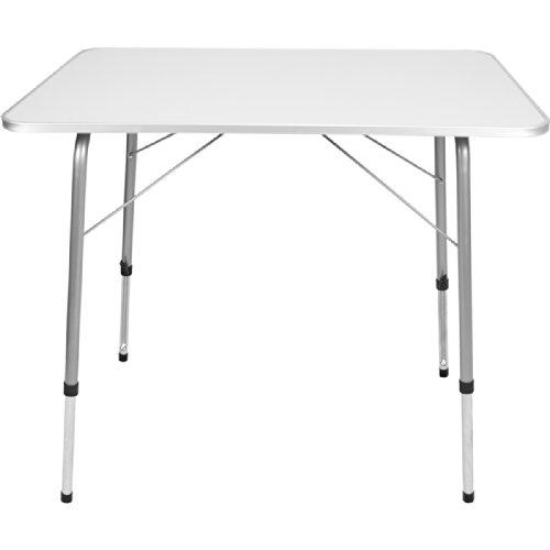 Profi-Gruppe - Tavolo da giardino pieghevole in metallo con piano in MDF 80 x 60 cm regolabile in altezza