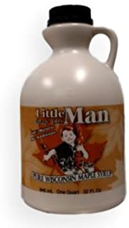 Little Man Syrup 100% Pure Wisconsin Maple Syrup Grade A Dark Robust Quart (32oz)