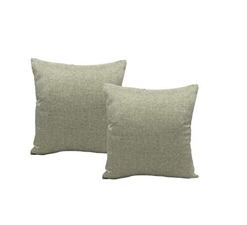 MONTANCHEZZ Set di 2 federe per cuscino, 45 x 45 cm, 45 x 45 cm, stile moderno, con motivo a pois, colore: grigio