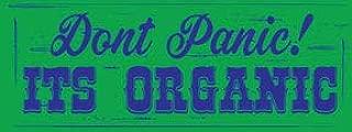Losea Vintage Tin Signs Dont Panic Its Organic 16 x 6 Metal Sign