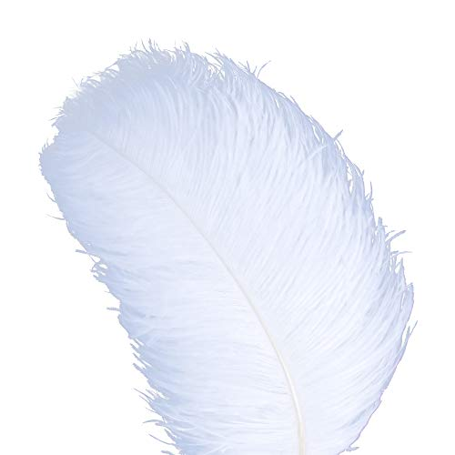 AWAYTR 10pcs Natural Ostrich Feathers for Wedding Centerpieces Home Decoration (18-20 inch, White)