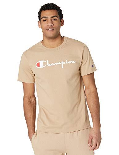 Champion Herren Heritage Tee T-Shirt, Country Walnut-Schriftlogo, X-Groß
