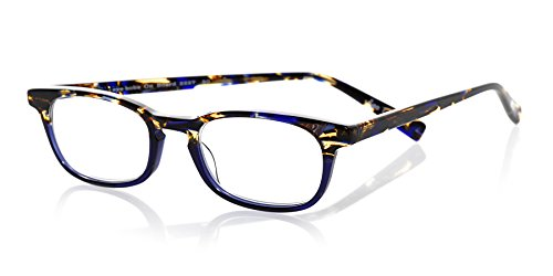 eyebobs On Board Unisex Premium Readers, Blue Tortoise and Blue Front with Blue Tortoise Temples, 2.50 Magnification