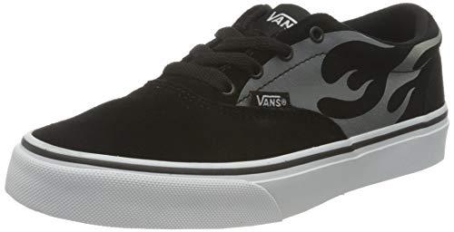 Vans Doheny, Sneaker, (Suede Flame) Black/White, 38 EU