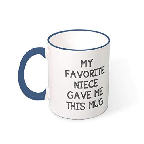 O1FHW-8 11 oz Wasser Tee Becher mit Griff Hochwertige Keramik Neuheit Becher - Freunde Geschenke, für Haus verwenden Midnight Blue 330ml