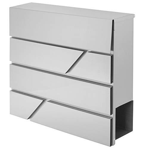 Springos Buzón con compartimento para periódicos, buzón de correos, 37,5 x 36,5...