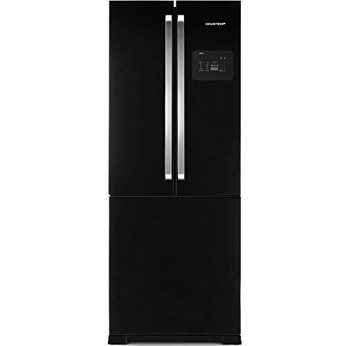 Geladeira Brastemp Frost Free Side Inverse 540 litros Preto com Ice Maker 220V