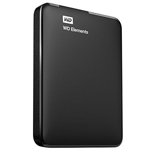 WD Elements - Disco duro externo portátil de 500 GB con USB 3.0, color negro