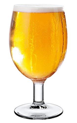 Vicrila - Copas de Cerveza Malta 440 ml - Pack de 6 - Cristal Templado - Apto para Lavavajillas - Cocktails & Postres