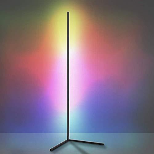 CNMJI Lámpara de pie led Regulable con Cambio de Color RGB y Mando a Distancia, nórdica Estilo Minimalista y Moderno, para salón, Dormitorio o Sala de Juegos Decoración 140cm