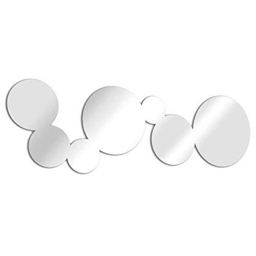 Trend spiegel m0032 spiegel blazen langwerpige PU zilver 76,0 x 23,8 x 0,3 cm