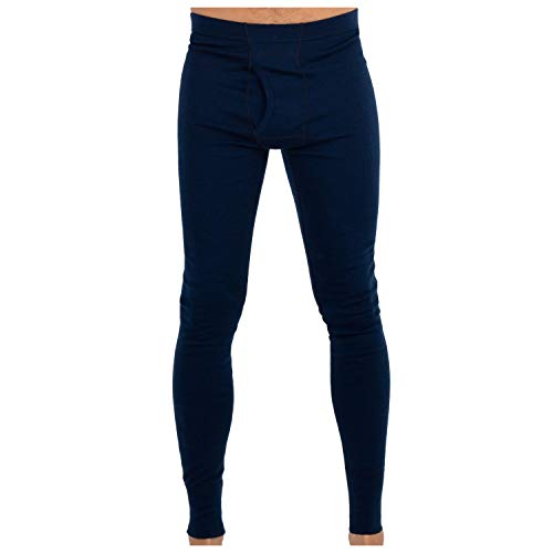 MERIWOOL Mens Base Layer 100% Merino Wool Thermal Pants Navy