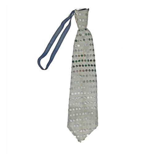 fish LED Party LED Rave 33cm Led Krawatte Helloween/Hochzeit/Geburtstag/Weihnachten Dekoration Blinken/Licht Krawatte Glow Party Supplies 10pcs, Silber