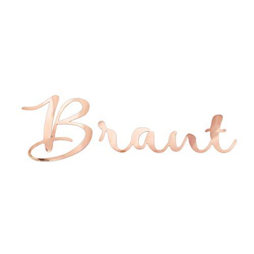 Oblique Unique® Bügelbild für JGA Junggesellinnenabschied Hochzeit - Braut - Team Braut - Braut Crew - Braut Security Bilder zum Aufbügeln Roségold (Braut)