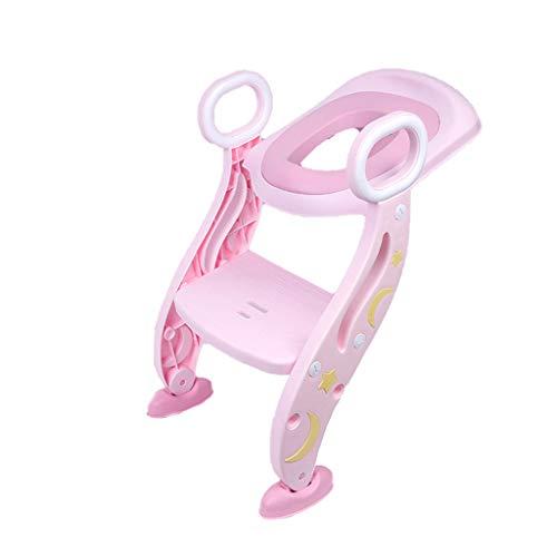 Babytopf opleiding instelbare ladder potje kinderen klap veiligheid kinderzitje urinoir wc trainer zitting pot voor kinderen roze