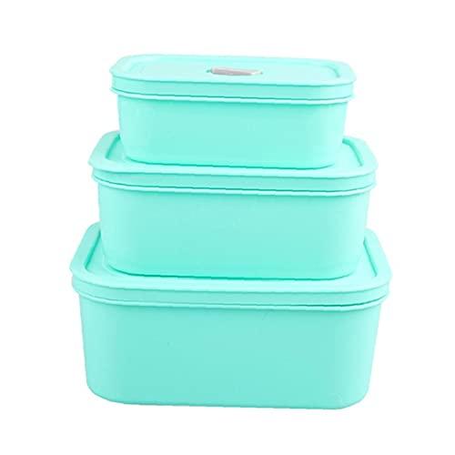 Caja de almuerzo Conjunto de microondas Frigorífico Almacenamiento Almacenamiento Contenedor Recién Tenedor Green, Botellas, Jarras y Cajas