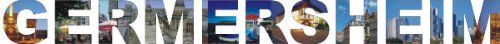INDIGOS UG - Wandtattoo Wandsticker Wandaufkleber - Aufkleber farbige Wandschrift Städtename Städtename Germersheim mit Sehenswürdigkeiten 80 x 7 cm Länge