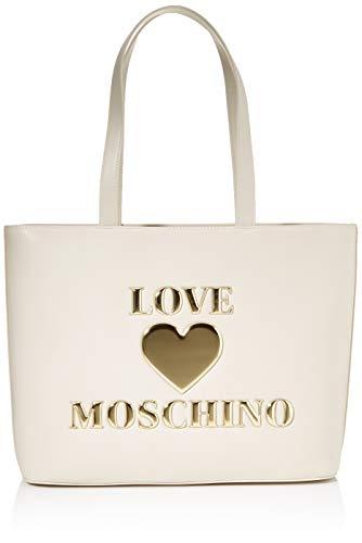 Love Moschino Damen BORSA PU Damentasche, Elfenbein, Normale