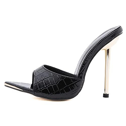 ZYSTMCQZ Mujer Sexy Tacones Altos Zapatos Zapatos de Mujer en Tacones Mujeres Sandalias Puntiagudas Punteras Zapatillas Tacones Hembra Damas Zapatos y Sandalias Adecuado para Viajes/Compras al Aire