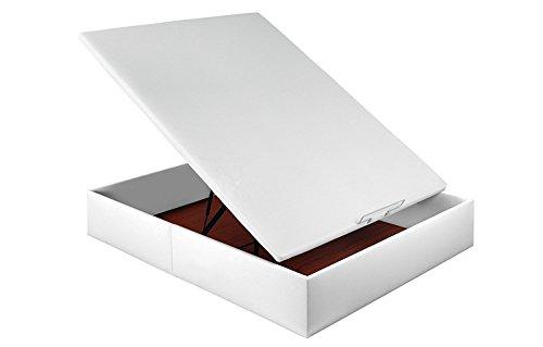 PIKOLIN CANAPÉ ABATIBLE TAPIZADO Polipiel Transpirable 3D (150x200, Blanco)
