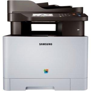 Samsung Xpress C1860FW Laser Multifunction Printer - Color - Plain Paper Print - Desktop - Copier/Fax/Printer/Scanner - 19 ppm Mono/19 ppm Color Print - 9600 x 600 dpi Print - 19 cpm Mono/19 cpm Color Copy - Touchscreen - 1200 dpi Optical Scan - Manual Duplex Print - 251 sheets Input - Gigabit Ethernet - Wireless LAN - USB - SL-C1860FW/XAA