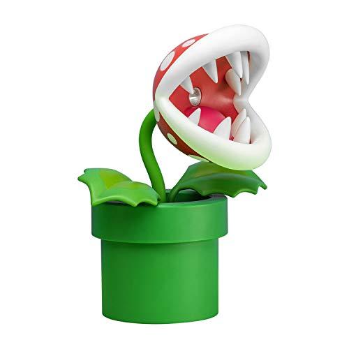 Paladone Piranha Plant Lampe BDP | LED-Licht mit flexiblem Kopf Nintendo Fans | Offiziell Lizenziertes Super Mario | 33 cm hoch, USB-betrieben, Plastik, Rot/Grün, 33cm Tall, PP6348NN