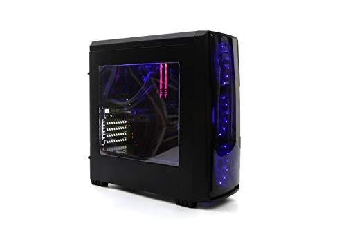 DeepGaming Antrax - Ordenador gaming de sobremesa (Intel Core i7-9700, 16GB RAM, 240GB SSD + 2TB HDD, Nvidia GTX1650 4GB GDDR5, Sin Sistema Operativo) Color Negro