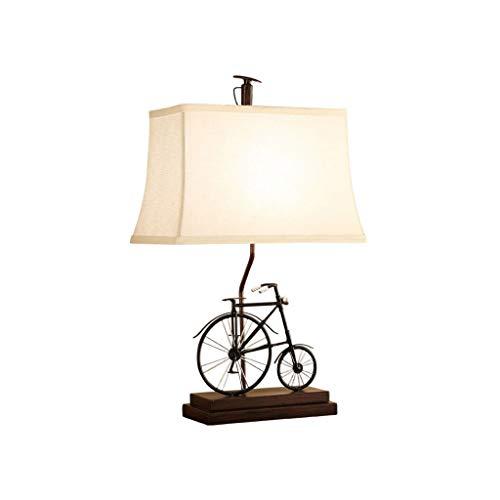 Lámpara de Mesa Lámpara de mesa de estilo europeo Dormitorio Lámpara de cabecera Sala de estar creativa Lámpara de mesa de bicicleta minimalista moderna Lámpara de Cabecera