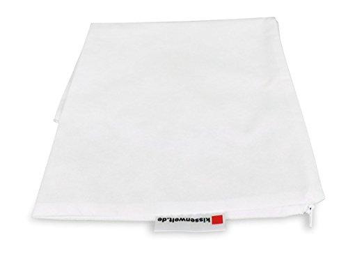 Kissenbezug Stoff VLIES Weiss, Kissenhülle mit Reißverschluss in 30 Größen, Größe:rund Ø 80 cm