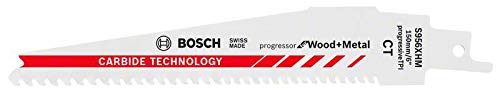 Preisvergleich Produktbild Bosch Professional 10 Stück Säbelsägeblatt S 956 XHM Progressor for Wood and Metal (Länge 150 mm,  Zubehör Säbelsäge)