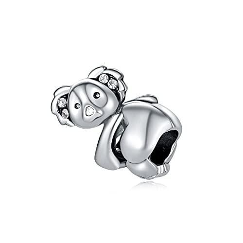 Pandora Fashion 925 Charm Original Alloy Bead Cute Koala Animal Fit Pulsera Brazalete Collar Diy Joyería De Las Mujeres