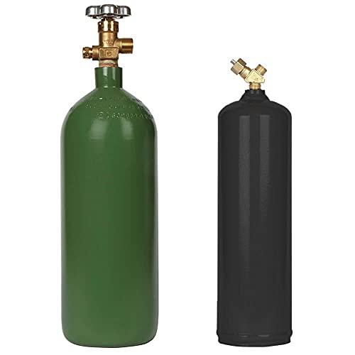 10 CF Acetylene MC and 20 CF Oxygen Cylinder Set