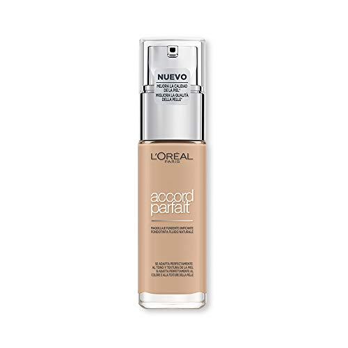 L'Oréal Paris MakeUp Fondotinta Accord Parfait, Effetto Naturale, Arricchito con Acido...