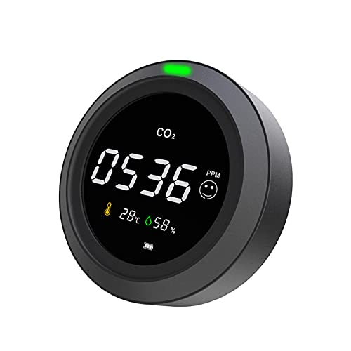 Air Quality Monitor CO2 Detector, Air Quality Monitor Temperature and Relative Humidity CO2 Meter, CO2 Monitor, NDIR Channel Sensor, 0~5000ppm Range