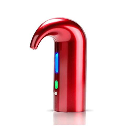 PiniceCore 1pc Bewegliche Elektrische Ausgießer Wein-belüftungsanlage Pourer Weinspender Pumpe Automatische USB Aufladbare Rot