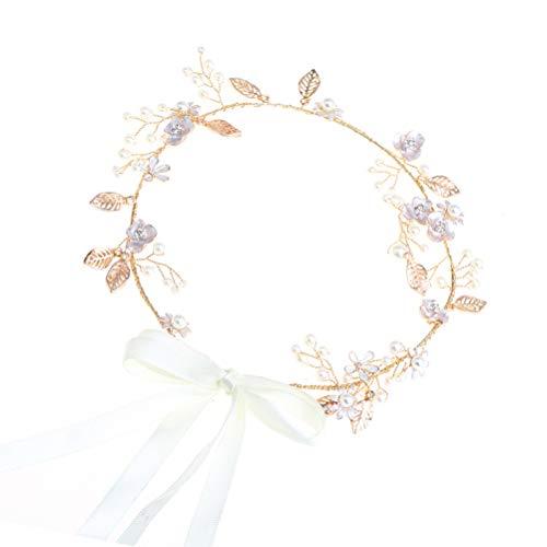 perles Ivory Bridal Head pièce avec fleurs diamants sur peigne Fascinator #3