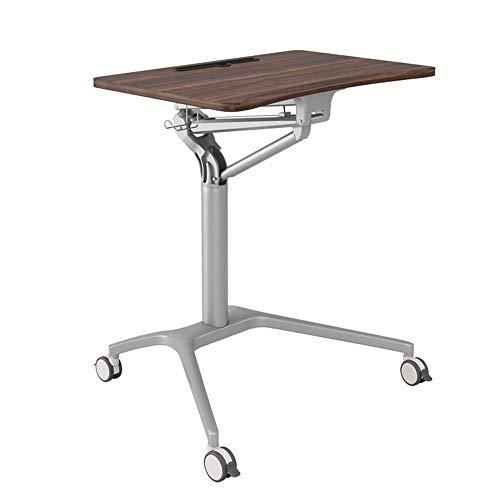 Mesa de centro para muebles, altura neumática ajustable (77 a 106,5 cm) Ordenador portátil portátil para sentarse y pararse, carrito de escritorio, sala de estar, sofá, mesa auxiliar, escritorio