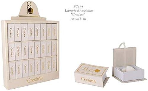 Libreria 24 scatoline portaconfetti CRESIMA bomboniera