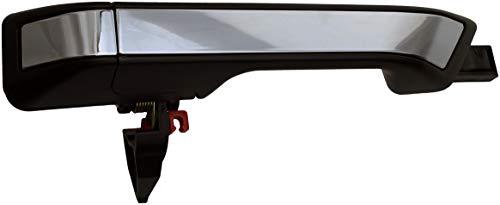 Dorman 96614 Tirador de puerta exterior trasero del lado del conductor para modelos Honda seleccionados, negro y chapado en cromo