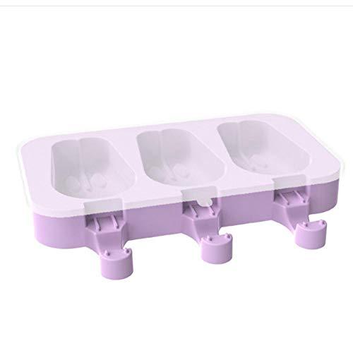 Enjoyyouselves Molde para helados, reutilizable, de silicona de calidad alimentaria, máquina de helado DIY helado con tapa y palillos de madera