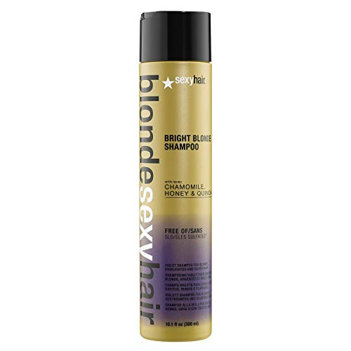SexyHair Blonde Bright Blonde Violet Shampoo, Color Safe, 10.1 fl. oz.