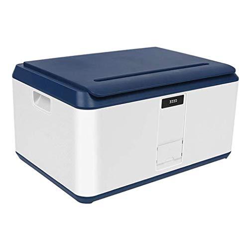 HUIXINLIANG 78 litres bacs de rangement avec couvercles - Craques utilitaires empilables en plastique, boîte de rangement avec mot de passe, stockage empilable Tote Boîte de pont plastique Organisateu