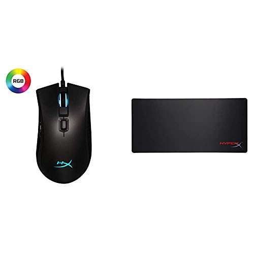 HyperX Pulsefire FPS Pro - RGB Gaming Mouse and HyperX FURY S - Pro Gaming Mouse Pad - X-Large