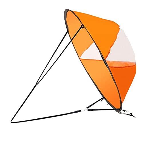 Uayasily 42' Duradero Instantáneo a Favor del Viento del Viento De En La Tarjeta De Paleta Emergente Barco Velero Canoa Estilo Plegable para Kayaks, Canoas, Botes Inflables, Paddle Board